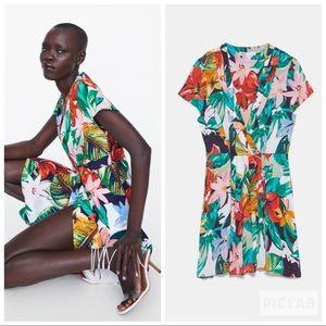 NWT • Zara • Floral Print Dress